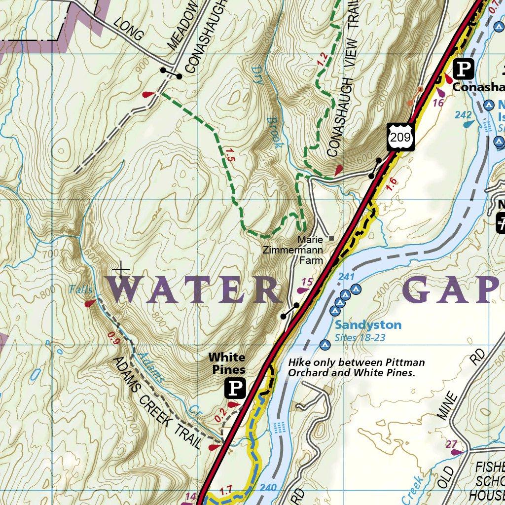map delaware water gap 737 Delaware Water Gap National Recreation Area National map delaware water gap
