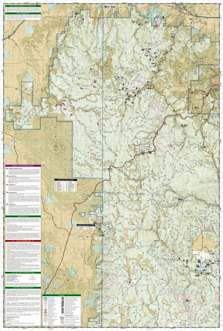 Black Hills National Forest [Map Pack Bundle] - National Geographic ...