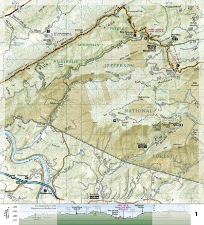 1504 Appalachian Trail Bailey Gap To Calf Mountain Virginia