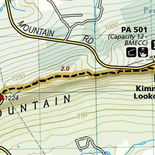 1507 :: Appalachian Trail, Swatara Gap to Delaware Water Gap ... Delaware Water Gap Map on