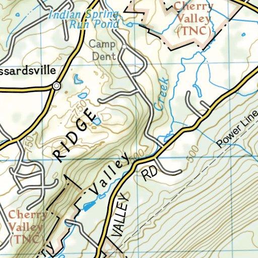 1507 :: Appalachian Trail, Swatara Gap to Delaware Water Gap ... Delaware Water Gap Camping Map on