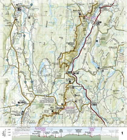 Appalachian Trail New England Map.1509 Appalachian Trail Schaghticoke Mountain To East Mountain