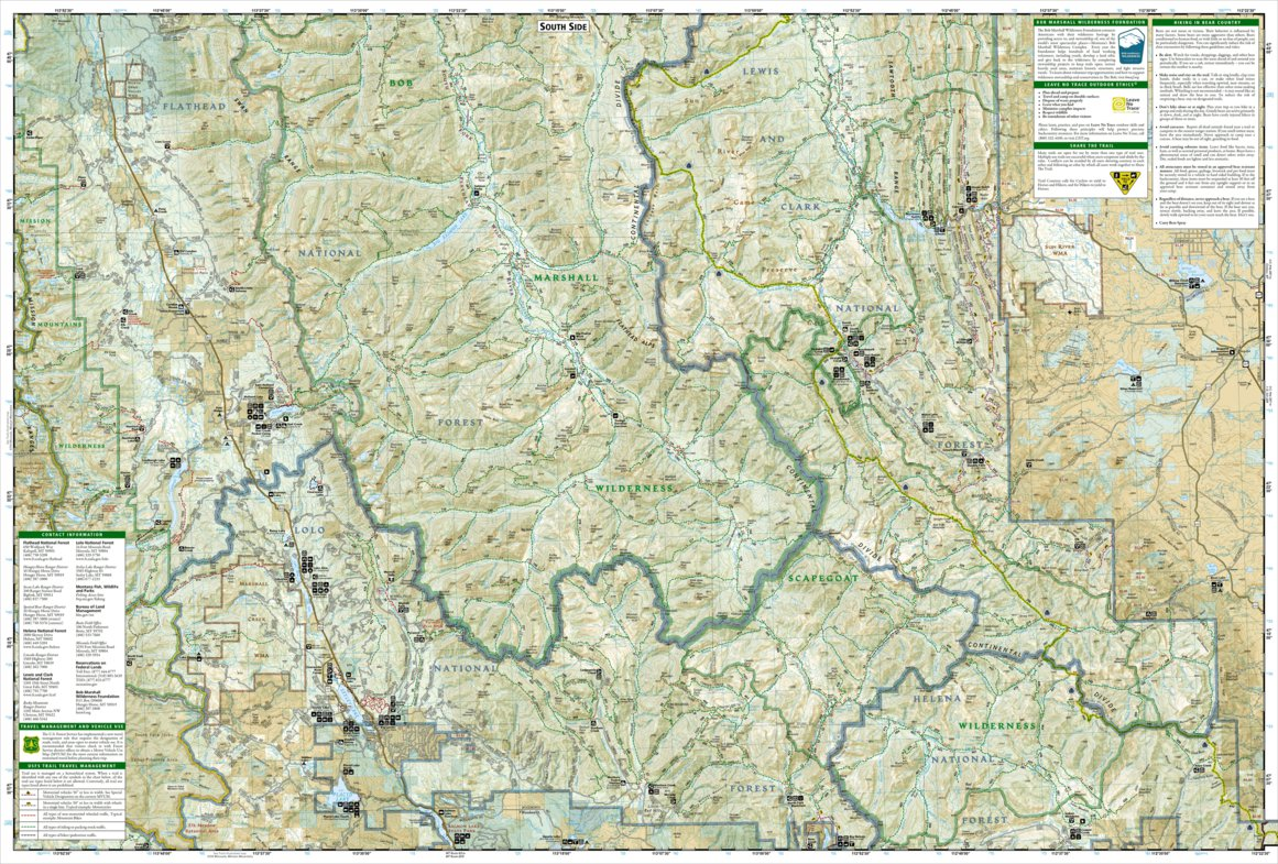 Bob Marshall Wilderness Map 725 :: Bob Marshall Wilderness   National Geographic   Avenza Maps