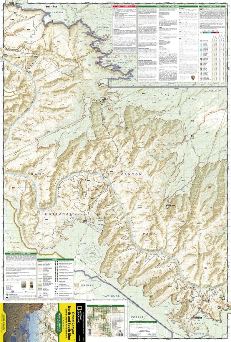 261 :: Grand Canyon, North and South Rims [Grand Canyon National ...