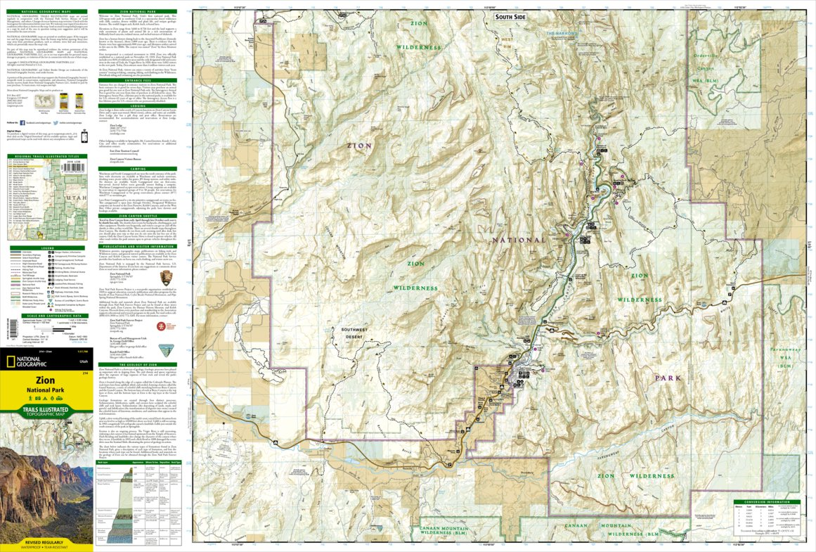 214 :: Zion National Park - National Geographic - Avenza Maps