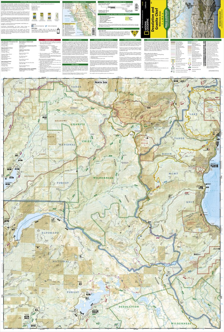 Desolation Wilderness Map on
