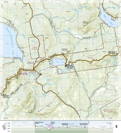 Appalachian Trail In Maine Map.1512 Appalachian Trail Mount Carlo To Pleasant Pond Maine