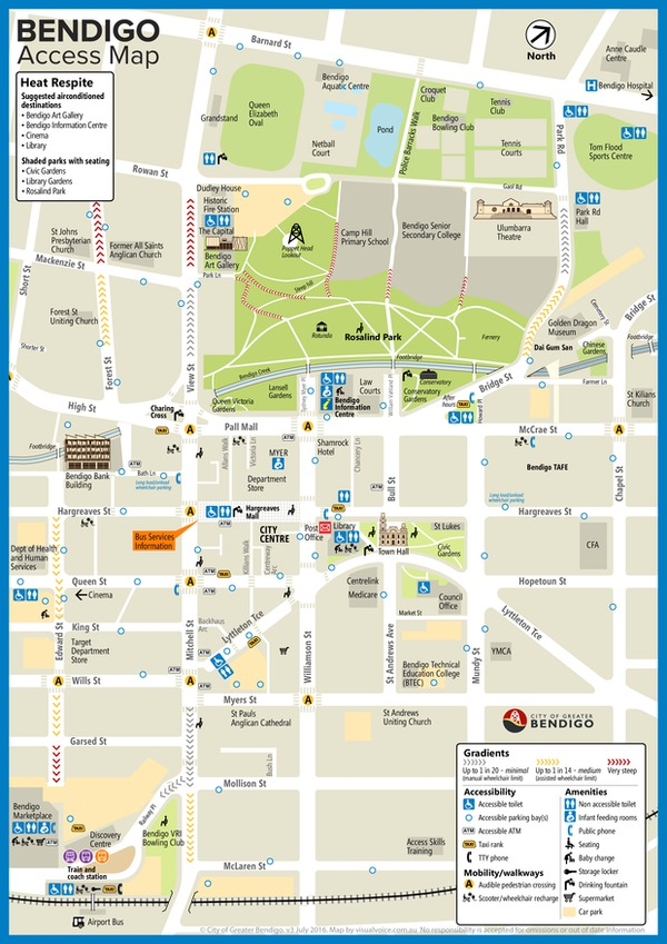 Bendigo Access Map