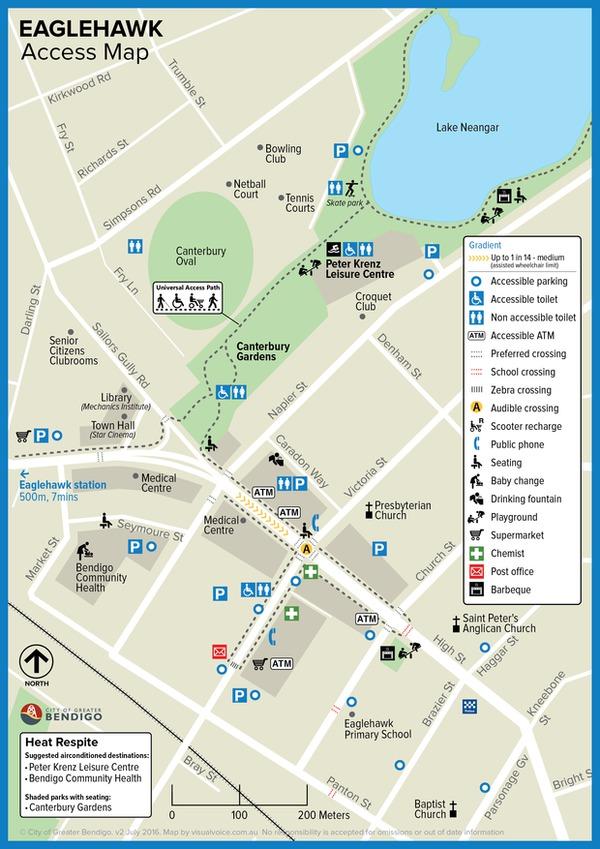 Eaglehawk Access Map