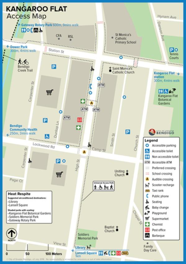Kangaroo Flat Access Map