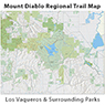 Los Vaqueros and Surrounding Parks - Mount Diablo Regional Trail Map