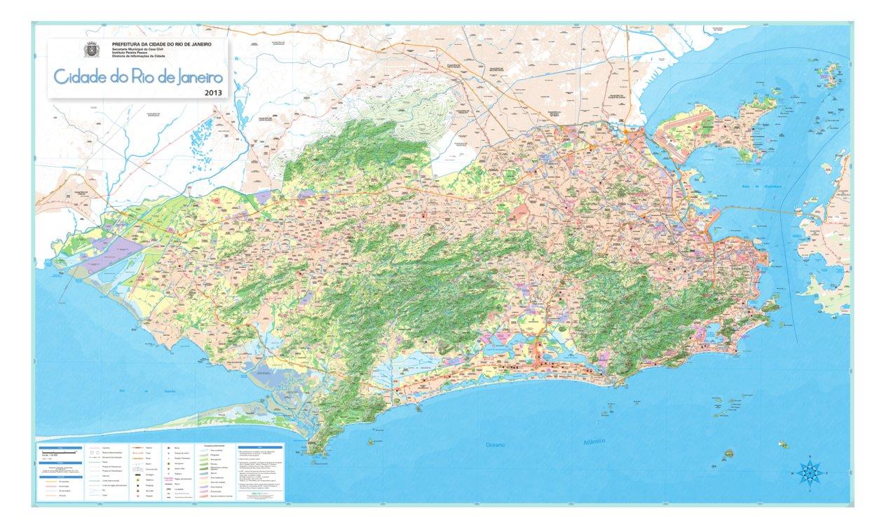 Rio De Janeiro Rj Brazil Tourist Map Engesat Avenza Maps