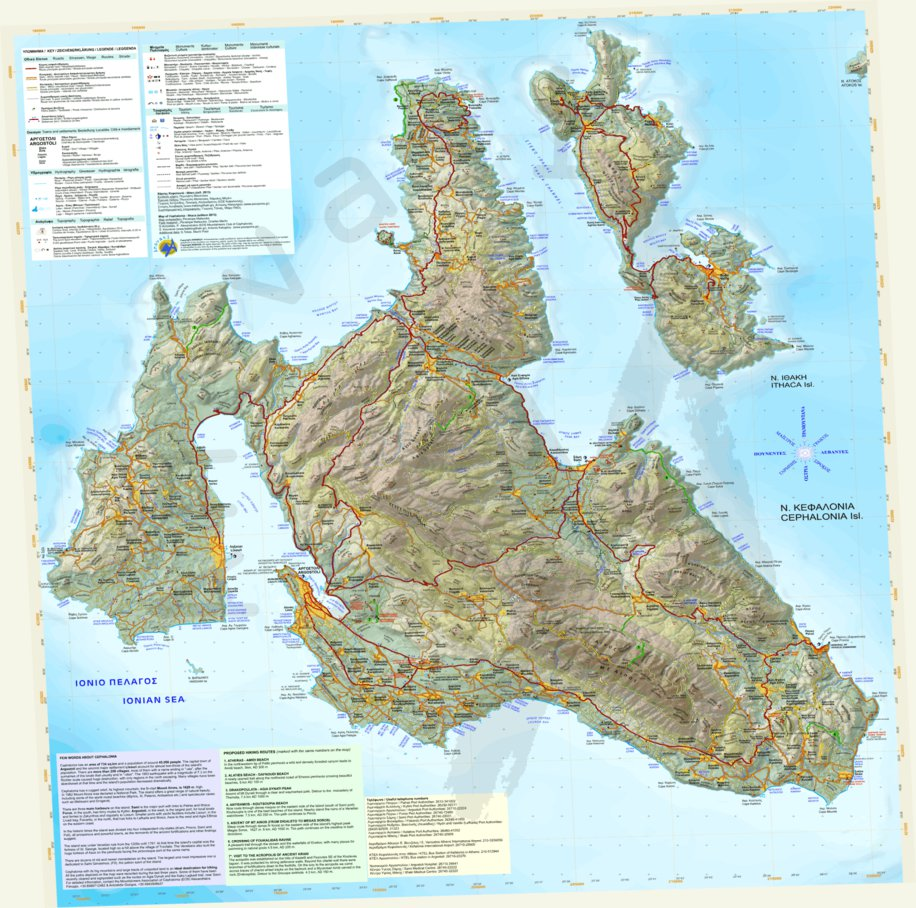 Cephalonia Greece Anavasi Editions Avenza Maps