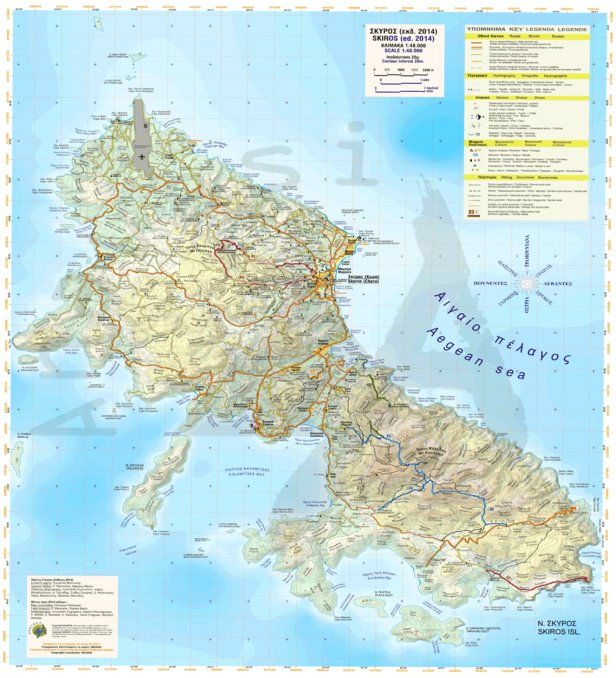 Skyros Greece Anavasi editions Avenza Maps