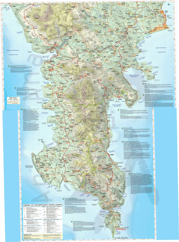 Mani Greece Anavasi Editions Avenza Maps