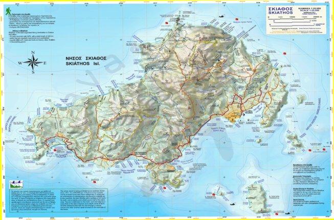 Skiathos, Greece - Anavasi editions - Avenza Maps