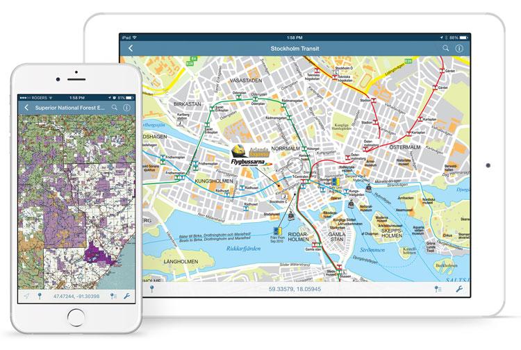 Avenza Maps on iPhone and iPad