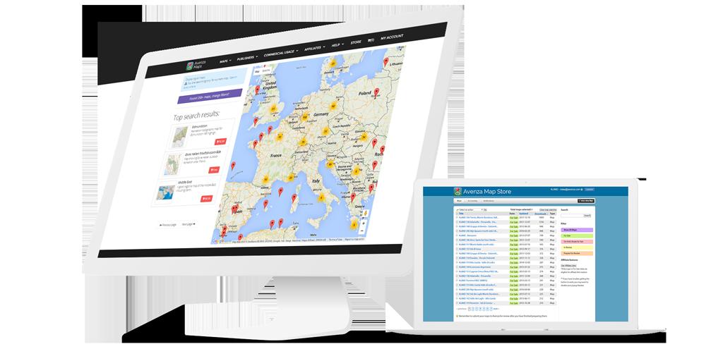 Avenza map publishers