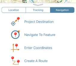 avenza maps navigation options