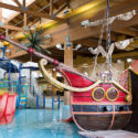 Pirate ship at waterpark