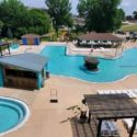 Aerial View of the outdoor pool area