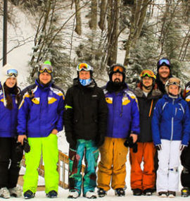 A group of newly graduated skiers. Photo Credit - Justin Harris