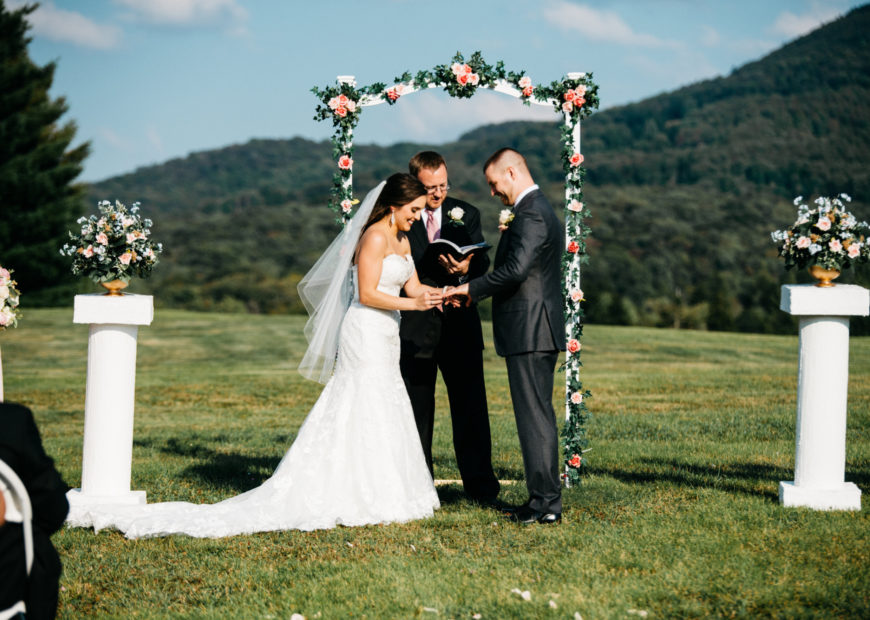 Outdoor wedding ceremony at Canaan Valley Resort
