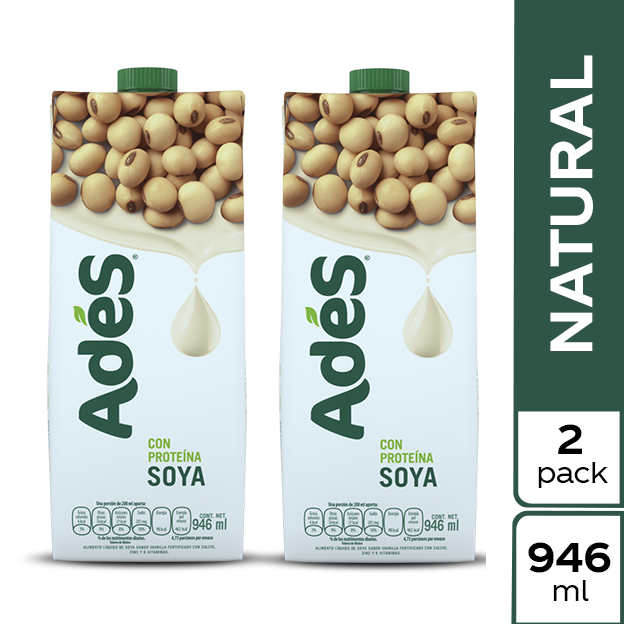 AdeS Soya Natural 946 ml 2 pack