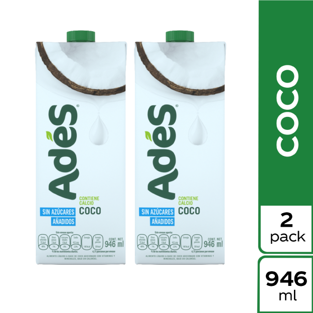 AdeS Coco 946 ml 2 pack