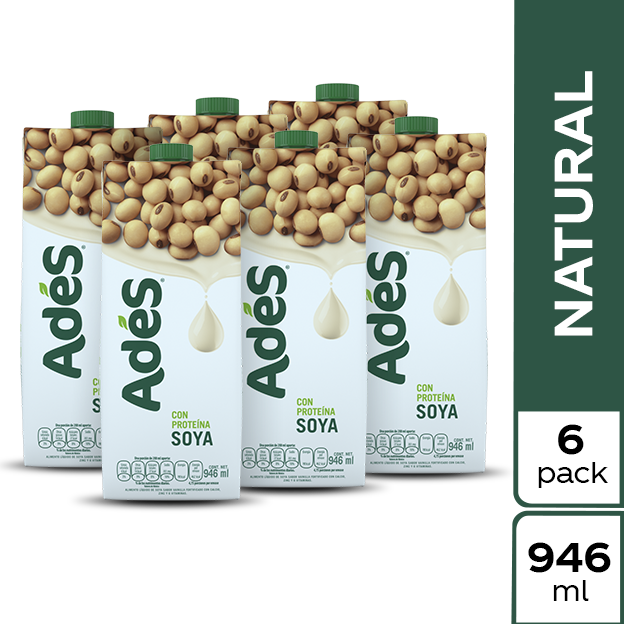 AdeS Soya Natural 946 ml 6 pack