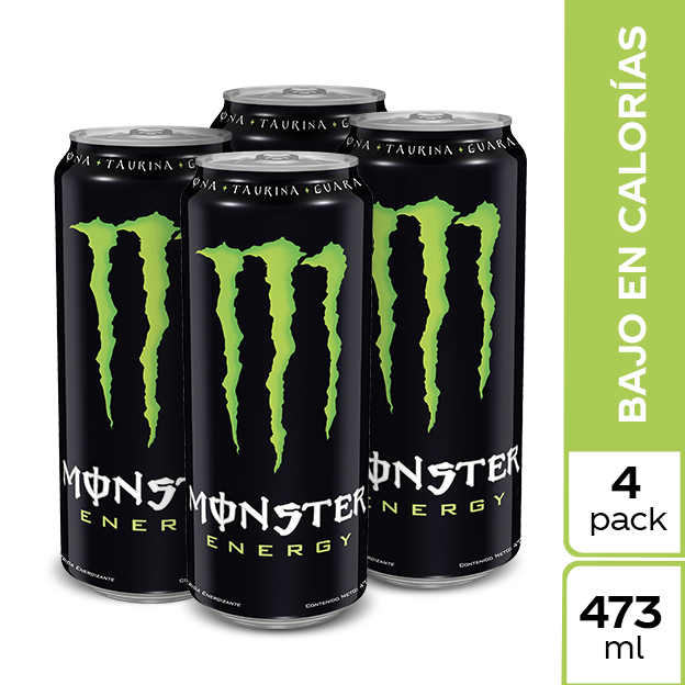 Energizante Monster Green Lata  473 ml 4 pack