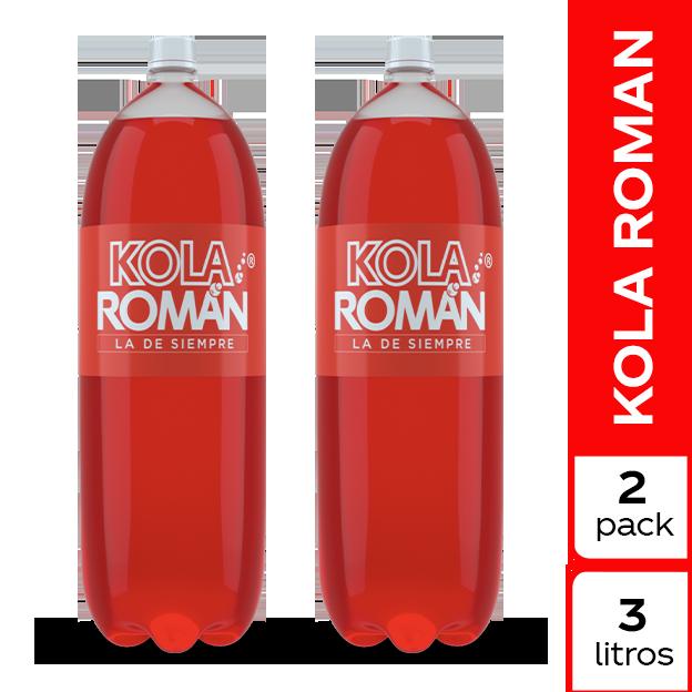 Gaseosa Kola Roman  3 L 2 pack