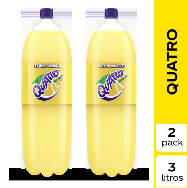 Gaseosa Quatro  3 L 2 pack