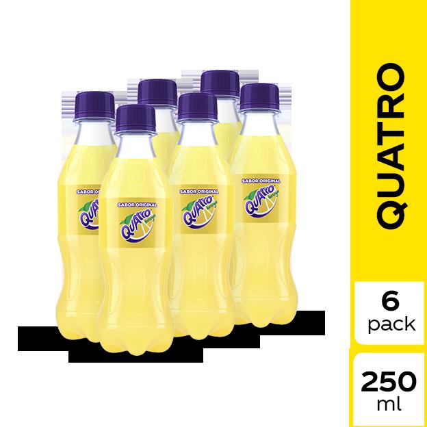 Gaseosa Quatro Original 250 ml 6 pack