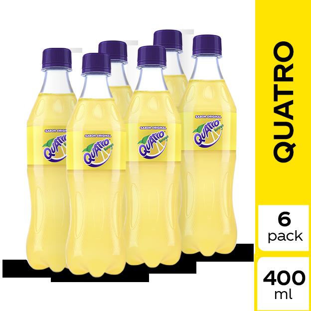 Gaseosa Quatro Original 400 ml 6 pack