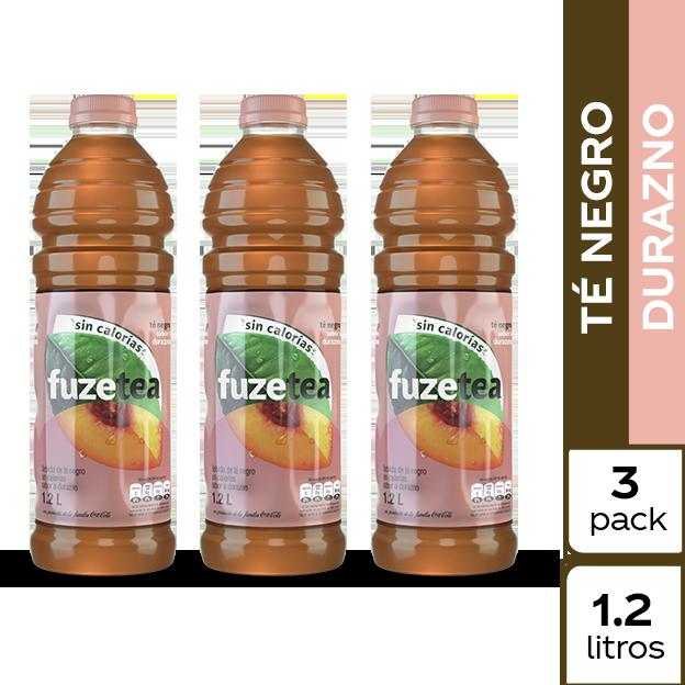 Fuze Tea Negro Durazno  1.2 L 3 pack