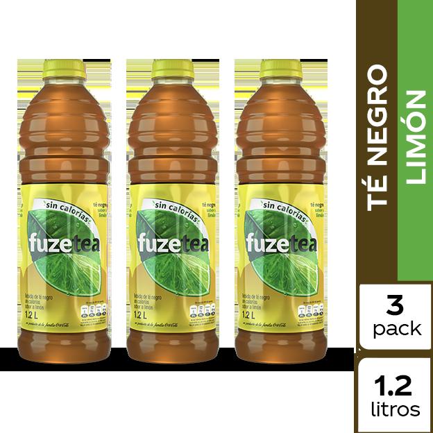 Fuze Tea Negro Limón 1.2 L 3 pack