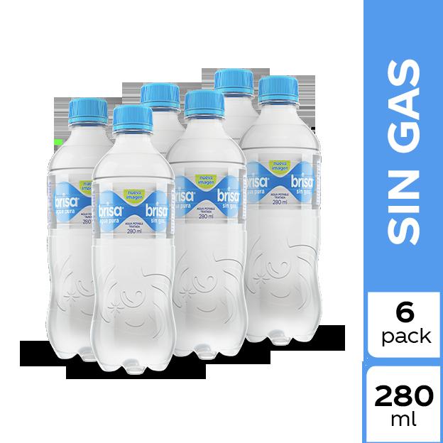Agua Brisa Plain  280 ml 6 pack