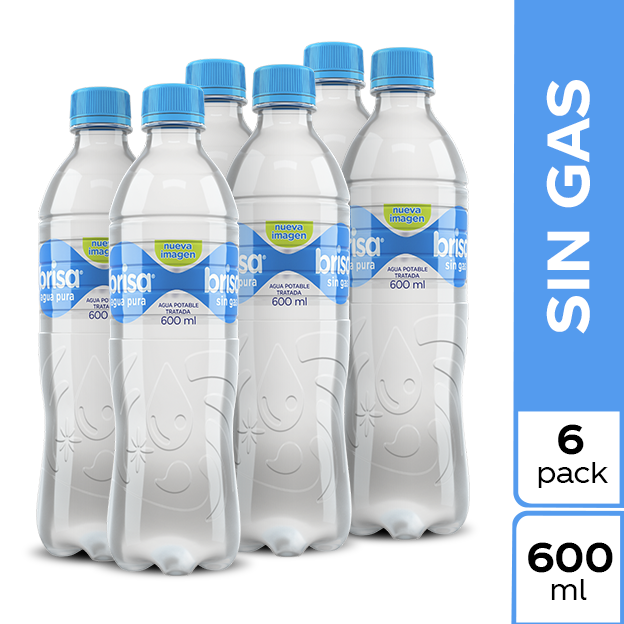 Agua Brisa Sin Gas 600 ml 6 pack