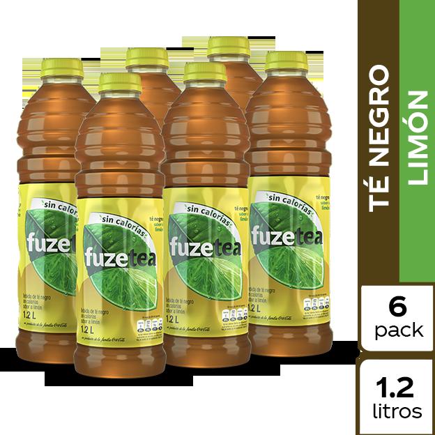 Fuze Tea Negro Limón 1.2 L 6 pack