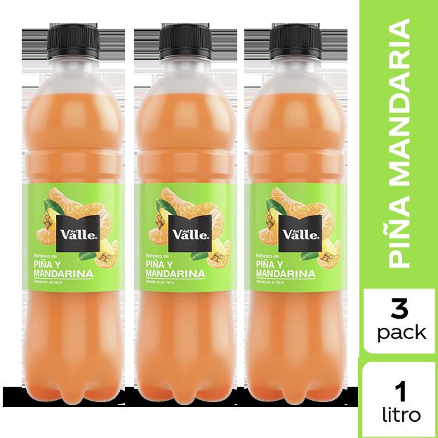 Jugo Del Valle Mandarina y Piña 1 L 3 pack