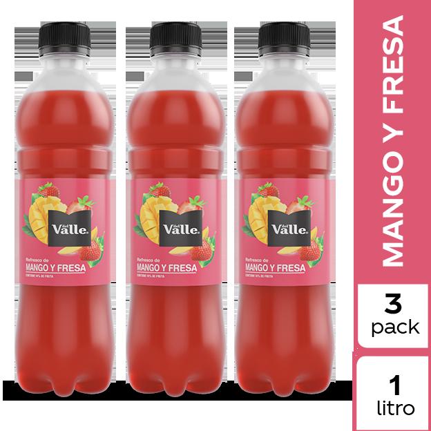Jugo Del Valle Mango y Fresa 1 L 3 pack
