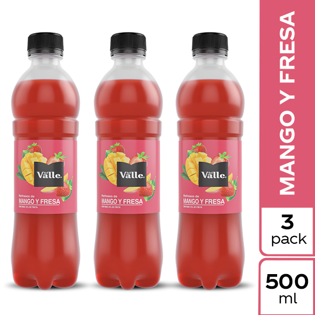 Jugo Del Valle Mango y Fresa 500 ml 3 pack
