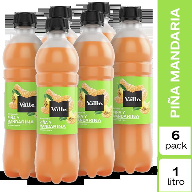 Jugo Del Valle Mandarina y Piña 1 L 6 pack