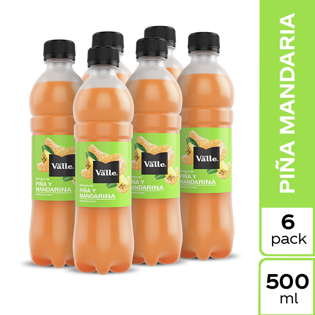 Jugo Del Valle Mandarina y Piña 500 ml 6 pack