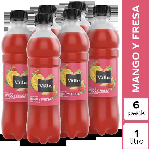 Jugo Del Valle Mango y Fresa 1 L 6 pack