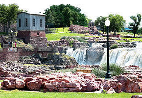 View of Falls Park in Sioux Falls