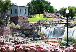 Falls Park located in Sioux Falls, SD