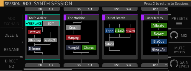 H9000 screenshot of an FX Chain