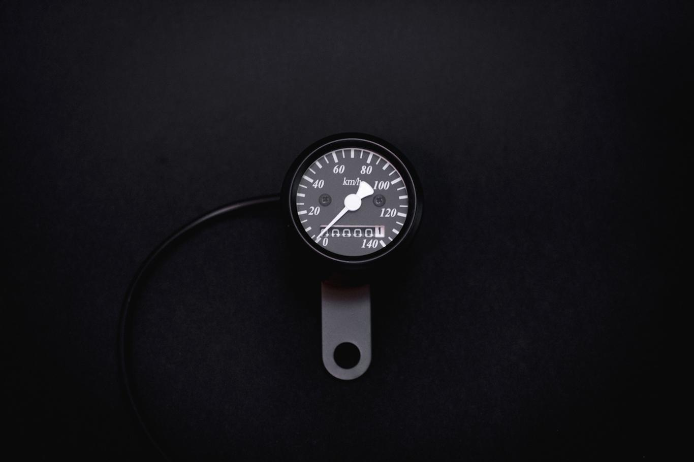 Super Mini 48mm Speedo Matt Black